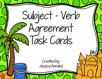 Subject Verb Agreement Task Cards / SCOOT