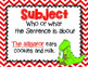 Subject and Predicate Introduction Posters by Grammar Gator