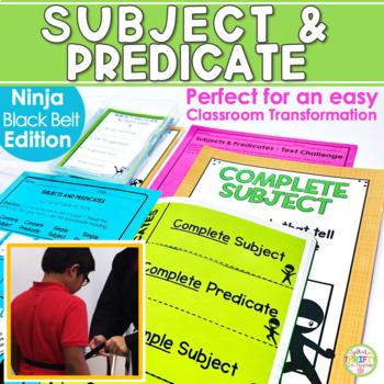 Subject and Predicate (Ninja Edition) Unit Posters Task Ca