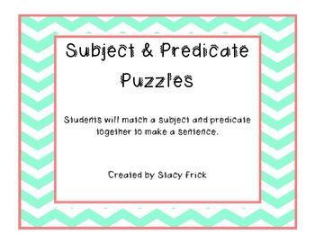 Subject and Predicate Puzzles