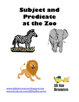 Subject and Predicate at the Zoo