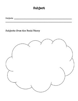 Subject and Theme Worksheets