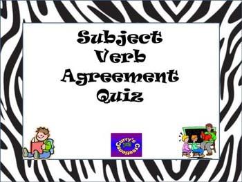 Subject and Verb Agreement Quiz