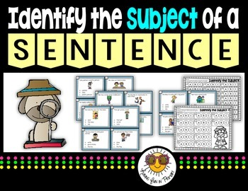 Subject of a Sentence {Task Cards}
