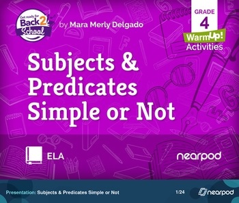 Subjects & Predicates Simple or Not