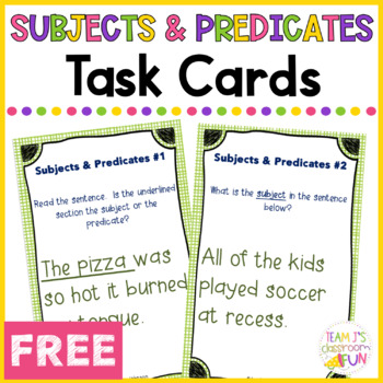 Subjects and Predicates Around the Room