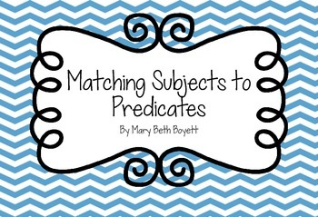 Subjects and Predicates Matching Game