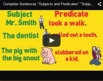 Subjects and Predicates Video & Activities Bundle