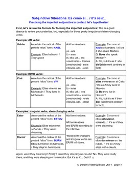 Subjunctive Situations: Practicing Imperfect Subjunctive w
