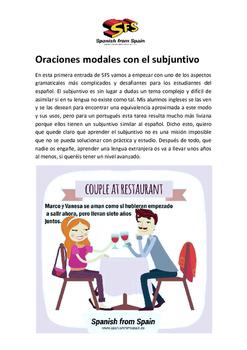 Subjuntive Modal Sentences