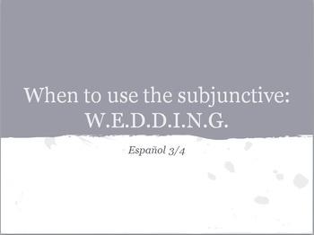 Subjuntive - W.E.D.D.I.N.G.