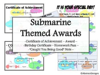 Submarine Awards Set