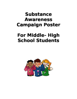 Substance Awareness Campaign Poster