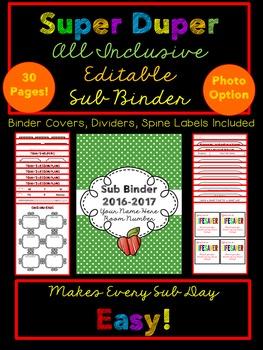 Substitute Binder {Editable, Inclusive, Makes Having a Sub