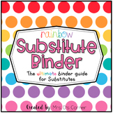 Editable Substitute Binder { Rainbow } The Ultimate Sub Bi