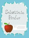 Substitute Binder with Filler Pages- PDF version