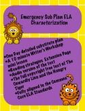 Emergency Sub Plan ELA Characterization