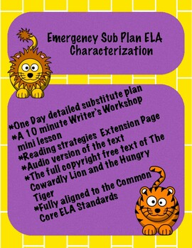 Emergency Sub Plan ELA Characterization
