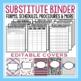 SUBSTITUTE ENGLISH TEACHER PLANS & BINDER
