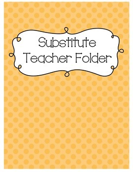 Substitute Folder {Apricot Polka Dot}