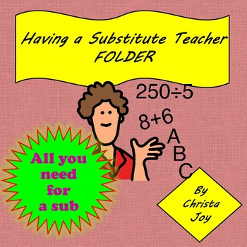 Substitute Binder for Special Education