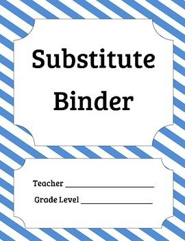 Substitute Information Binder