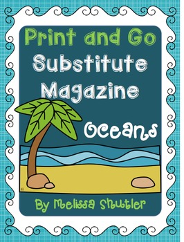 Substitute Magazines for Grades 4 and 5- An organized day