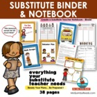 Substitute Notebook - Dividers and Resource Pages