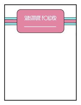 Substitute Plan Binder Dividers - Retro