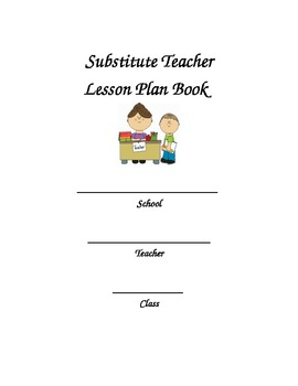 Substitute Plan Binder/17 organization pages