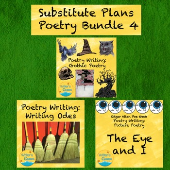 Substitute Plans Poetry Writing Bundle 4: Gothic Poetry, P
