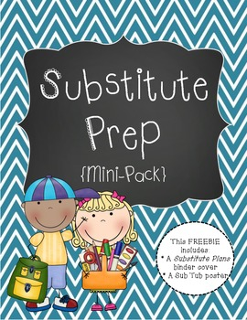 Substitute Prep Mini Pack {Teal Chevron}