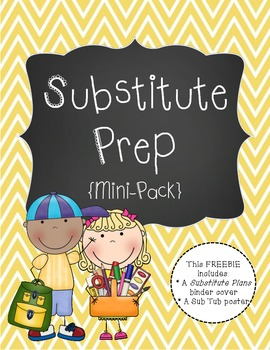 Substitute Prep Mini Pack {Yellow Chevron}