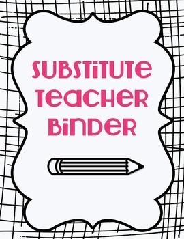 Substitute Teacher Binder Basics {Black & Pink}