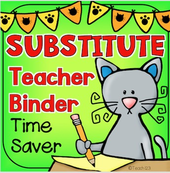Substitute Teacher Binder K-1