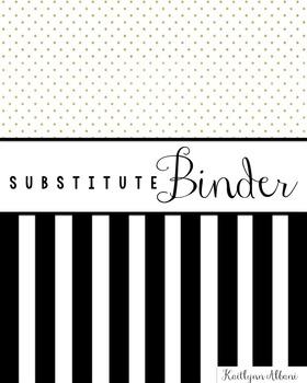 Substitute Teacher Classroom Binder