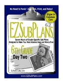 Substitute Teacher Emergency Absence Plans EZSubPlans Grad