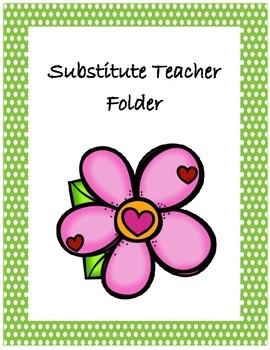 Substitute Teacher Folder Cover~ Spring