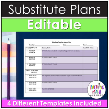 Substitute Teacher Lesson Plan