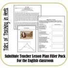 Substitute Teacher Lesson Plan Filler Pack-Standards Based