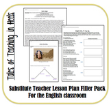 Substitute Teacher Lesson Plan Filler Pack-Standards Based