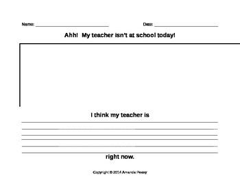 Substitute Teacher Writing