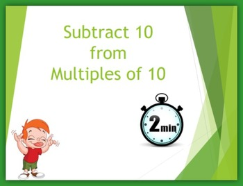 Subtract 10 from Multiples of 10