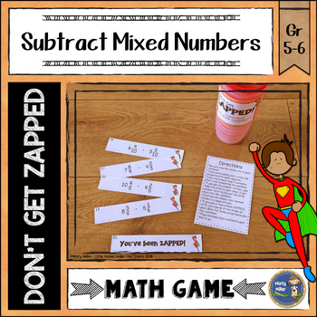 Subtracting Mixed Numbers ZAP Math Game