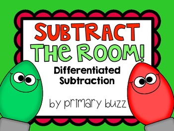 Subtract the Room! Differentiated Holiday Subtraction