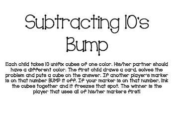Subtracting 10's Bump