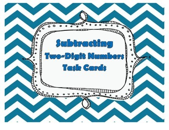 Subtracting 2 Digit Numbers Without Regrouping Task Cards