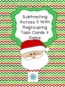 Subtracting Across 0 With  Regrouping Task Cards & Game (C