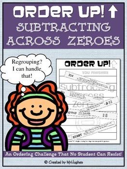 Subtracting Across Zeroes - Order Up! Set 1