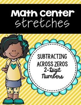 Subtracting Across Zeros (2 Digit Numbers) Center Strips